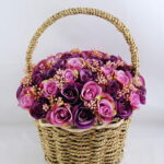 Artificial Flower 22*22*26cm rose in basket GS-06919027-Z1