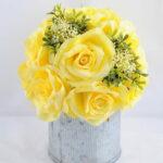 Artificial Flower 20*20*22CM rose in tin pot GS-06919016+P-Y1