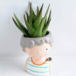 Artificial succulent 7*15CM Succulent in ceramic pot GS-30319043+P