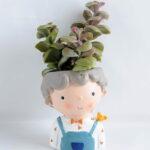 Artificial succulent 8*17CM Succulent in ceramic pot GS-30319053+P