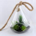 Artificial succulent 20*35CM Succulent in glass pot GS-52719042