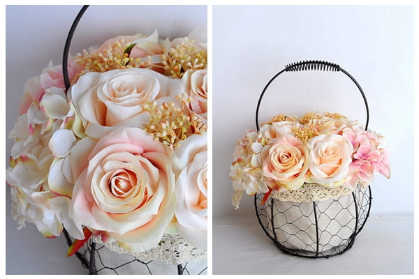 artificial flower rose wrought iron potted plant GS 06919029 C1 1 - Selling exquisite and realistic artificial flower rose  wrought iron potted plant-yeahflower
