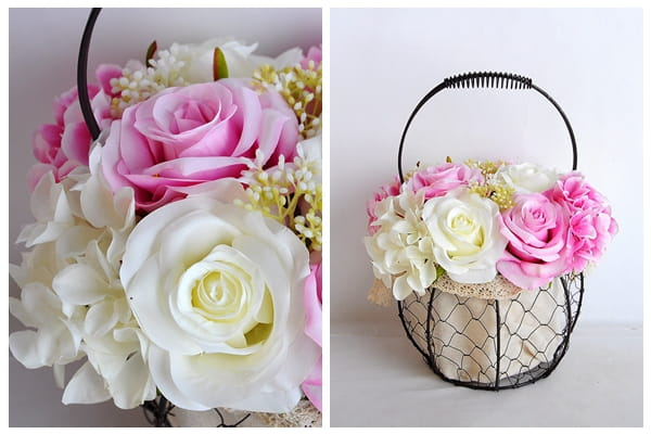 artificial flower rose wrought iron potted plant GS 06919029 P1 1 1 - Selling exquisite and realistic artificial flower rose  wrought iron potted plant-yeahflower