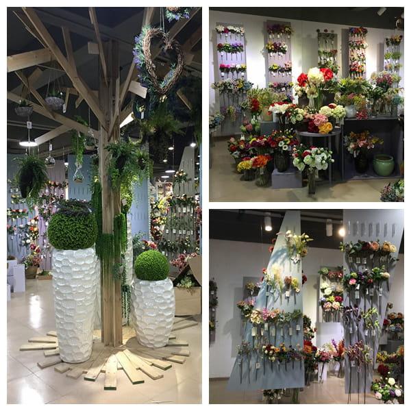 Yeahflower artificial flower showroom photo