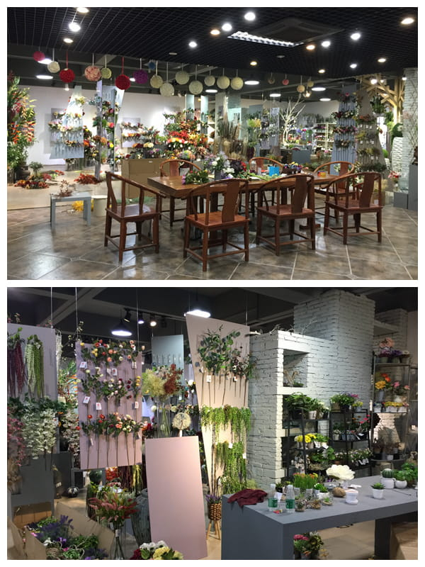 Yeahflower artificial flower showroom