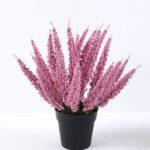 Artificial Flower 22*22*29cm  Calluna in Plastic pot GS-03319380-P1