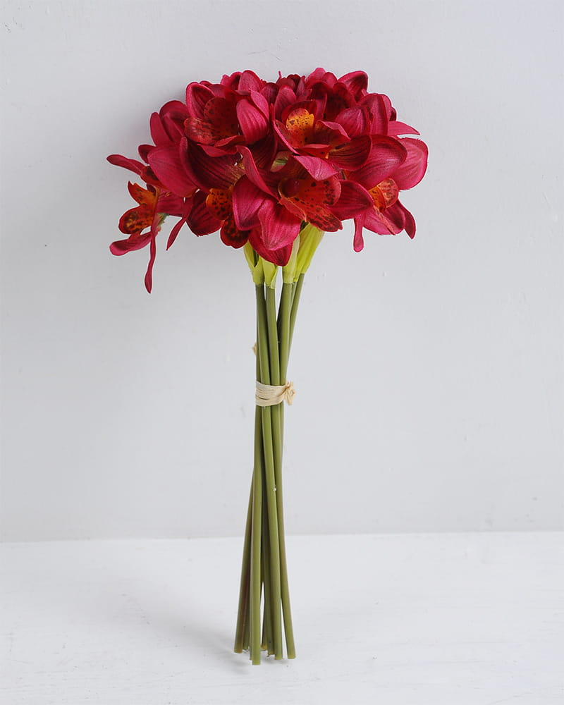 Artificial Flower 14*28cm Orchid bouquet*9 GS-12819013-R1