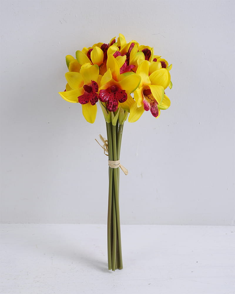 Artificial Flower 14*28cm Orchid bouquet*9 GS-12819013-Y1