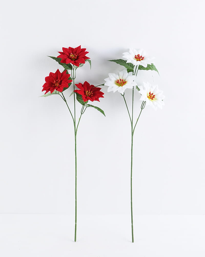 Artificial Flower 22*60cm Poinsettia branch*3 GS-57519030CONTI