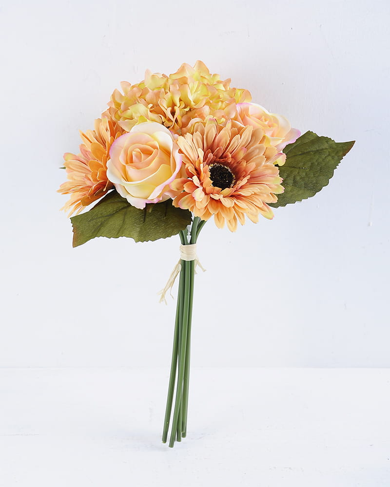 Artificial Flower 26*34CM Rose&Mum&Hydrangea Bouquet*7 GS-16819034