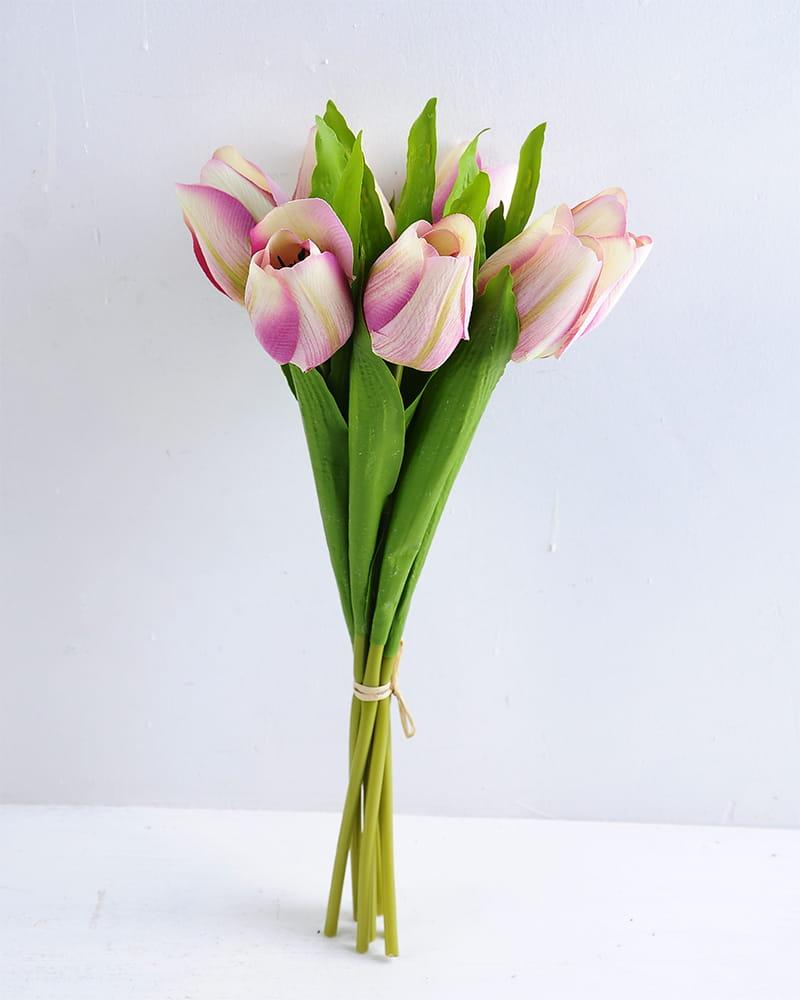 Artificial Flower 14*32cm Tulip bouquet*7 GS-12819018-P1