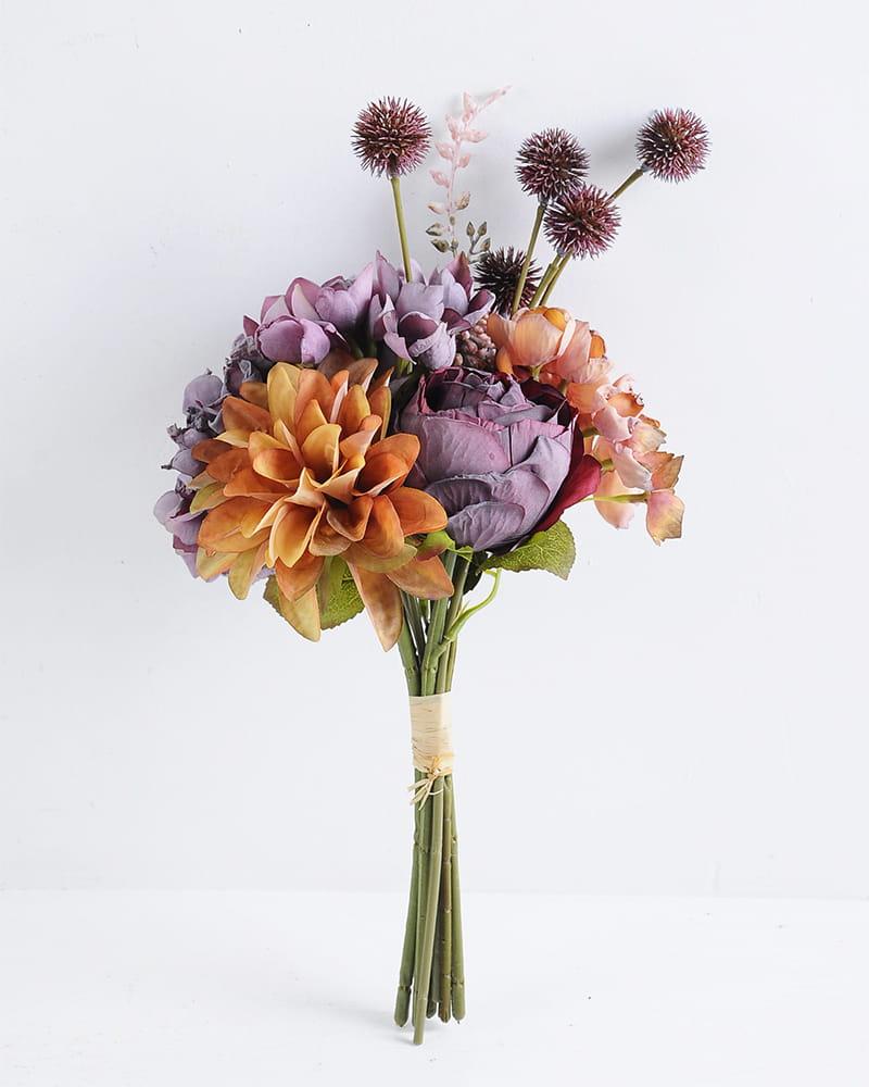 Artificial Flower 20*37cm rose and dahlia bouquet GS-28219024-R2